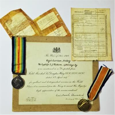Llewellyn Mitcham, Royal Garrison Artillery, Battery Quartermaster Sergeant