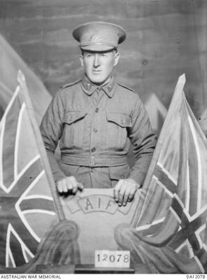 Ernest James  Stewart , Private in the AIF, 12th battalion, service number 4027.