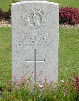 duncan McIntosh Joel, Private. South African Infantry 3rd rgt