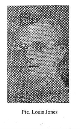 Louis Bereton Jones, Private of the 23rd battalion, Duke of Cambridge's [Middlesex] Regiment. Buried at Tyne Cot Belguim.