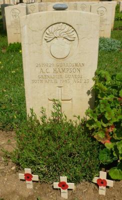 Allan Hampson, Guardsman, 5th Battalion Grenadier Guards