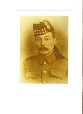Charles Herbert Coates, Pvt S/23667 5th Bn Seaforth Highlanders