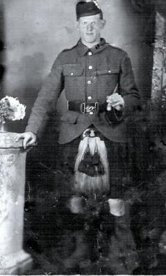 Arthur Robertson, Private Black Watch