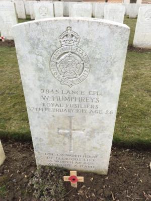 William Humphreys, Corporal, Royal Fusiliers (City of London Regiment), 11th Batallion