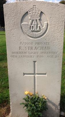 Robert Strachan, Private 3508 8th Battalion Durham Light Infantry