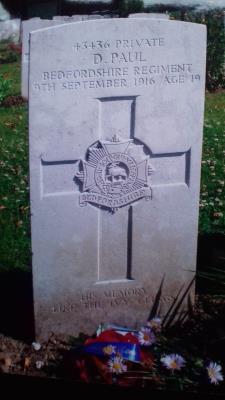 Donald Paul, 43436 Bedfordshire Regiment
