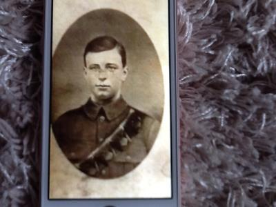 Frederick Westwood , Private 20918 Worcestershire Regiment
