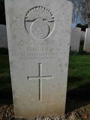 Patrick Moran, Private, Royal Munster Fusiliers.