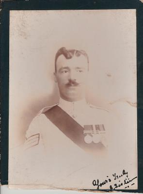 Arthur Sistern, Lance Sergeant 1st Battalion Northumberland Fusiliers