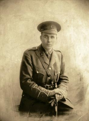 Edwin Arundel Hill, Second Lieutenant, promoted to Temp. Major in the Royal Sussex Regiment, 8th Battalion, British Army