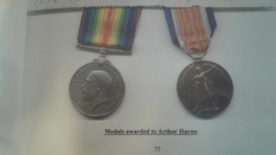 Arthur Harms, Lance corporal