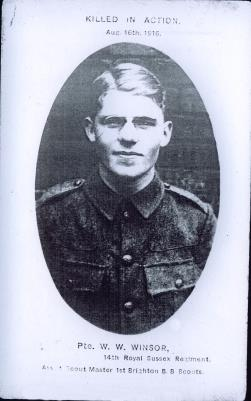 Walter Winsor, SD/5484 Private 14th Battalion The Royal Sussex Regiment