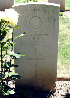 John Buck, Private 42231 26th Bn., Royal Fusiliers
