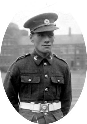 Harry Gibson, Private 5949829, Bedfordshire and Hertfordshire Regiment