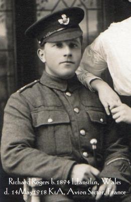 Richard Rogers, Kings Shropshire Light Infantry 6th Battalion. Private